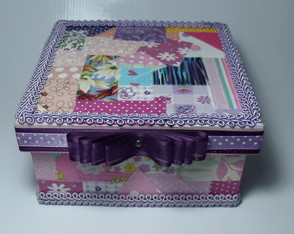 Mini Caixa Patchwork EXCLUSIVA!
