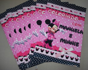 Revista Colorir Minnie 14x10