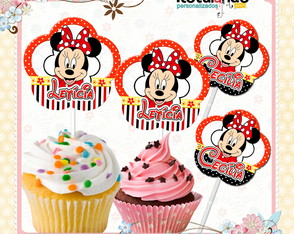 Topper Cupcake Minnie