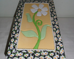 Caixa Mdf - Margarida- Patch Embutido