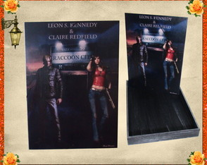 Caixa Leons S.Kennedy & Claire Redfield