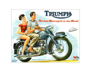 Placa MDF Retrô Triumph Motorcycle - 116