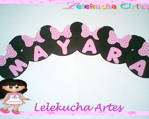 Letra Decorada Minnie