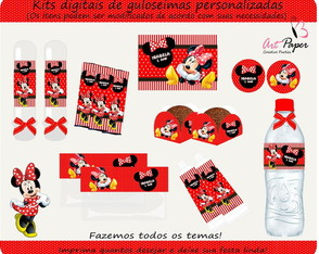 Kit de guloseimas Minnie Digital