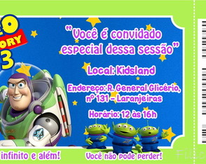 Convite Digital Ingresso Buzz Lightyear