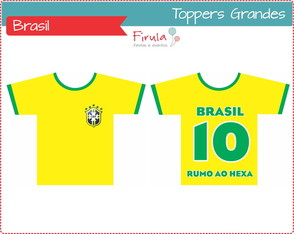 Kit Digital Toppers Camisa Futebol