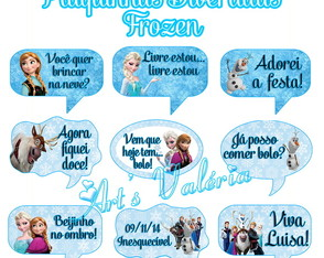 Placa com Frases p/ fotos - Personagens