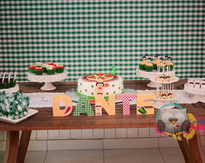 Letras 3D Pizza Party - Festa Pizzaria