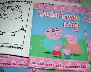 Revista colorir peppa