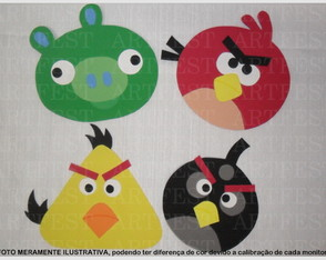 KIT PAINEL EVA ANGRY BIRDS MD -4PC