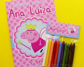 Kit de Colorir Peppa Pig
