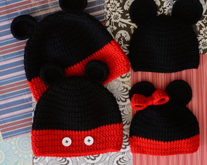 Toucas Mickey e Minnie