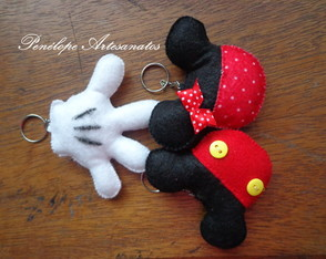 Chaveiros mickey/minnie