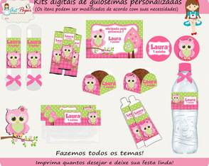 Kit de guloseimas Coruja digital