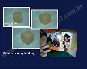Cubo para scrap booking