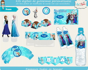 Kit de guloseimas Frozen digital