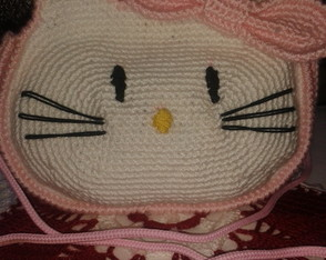Bolsa de crochê Hello Kitty