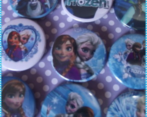 Botton Frozen ( kit com 10 unidades)
