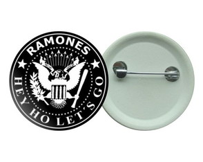Ramones Punk Botton Hardcore Buton Hey Ho Lets Go!