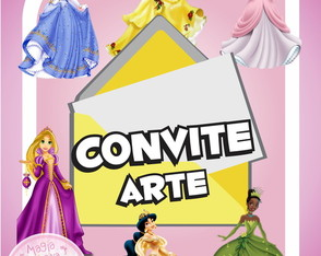 Convite (Arte) - As Princesas