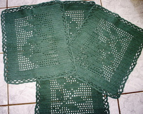 Kit de tapetes de crochet
