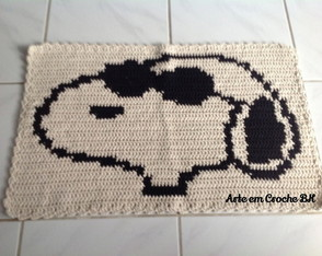 tapete-croche-personagem-snoopy-tapete