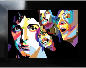 **QUADRO DECORATIVO - REIS DO ROCK