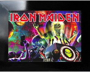 **QUADRO DECORATIVO - IRON MADEN 3