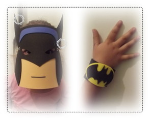 KIT BATMAN-MÁSCARA+BRACELETE