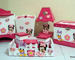 Kit Baby Minie e Margarida pink