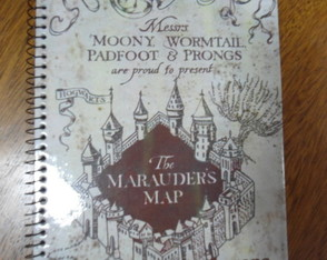 Caderno Harry Potter map