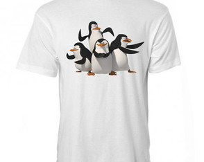 CAMISETA pinguins de madagascar