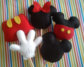Mickey Minnie No Palito - Topper