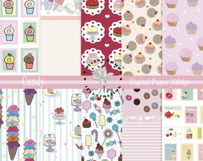 Kit Papel Digital Candy