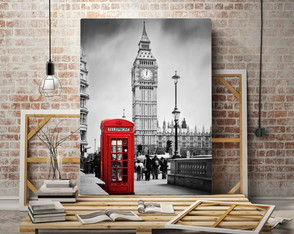 Quadro Decorativo Londres Big Ben ADcorista 4DDD17