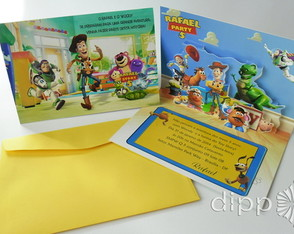 Convite Toy Story - POP UP 3D