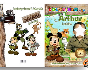 revista-de-colorir-mickey-safari-tema-disney-safari