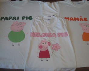 Kit camiseta aniversario - Peppa