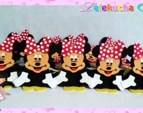 Porta Bombom Mickey e Minnie