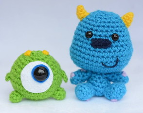 Baby Mike e Sulley Amigurumi
