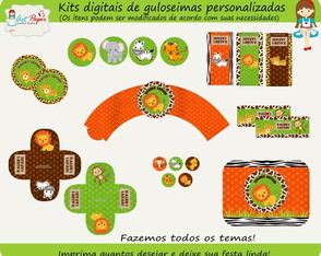 Kit de guloseimas Safari Digital