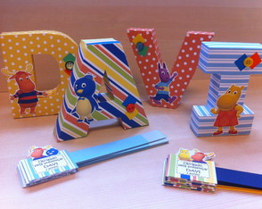LETRAS 3D - BACKYARDIGANS