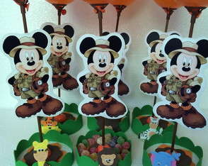 Enfeite de Mesa do Mickey Safari