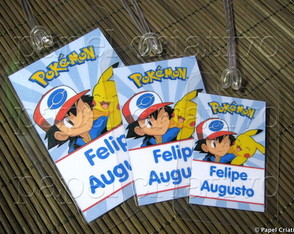 Kit 3 Bagtags - Pokémon