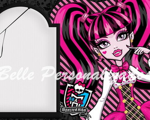 Arte Convite Digital Monster High