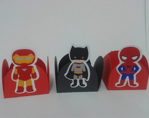 Forminha scrap Super Heroi