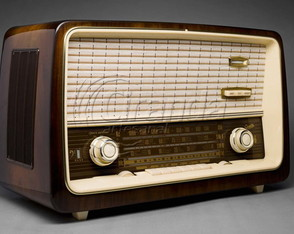 Placa Decorativa Vintage Radio