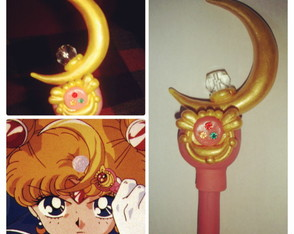 Sailor Moon caneta cetro lunar