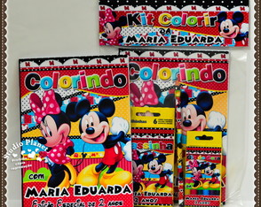 Kit de colorir Mickey e Minnie Mouse