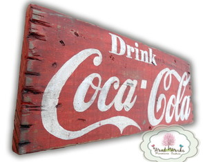 Placa Retrô Drink Coca-Cola